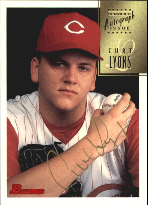 1997 Bowman Certified Gold Ink Autographs #CA50 Curt Lyons
