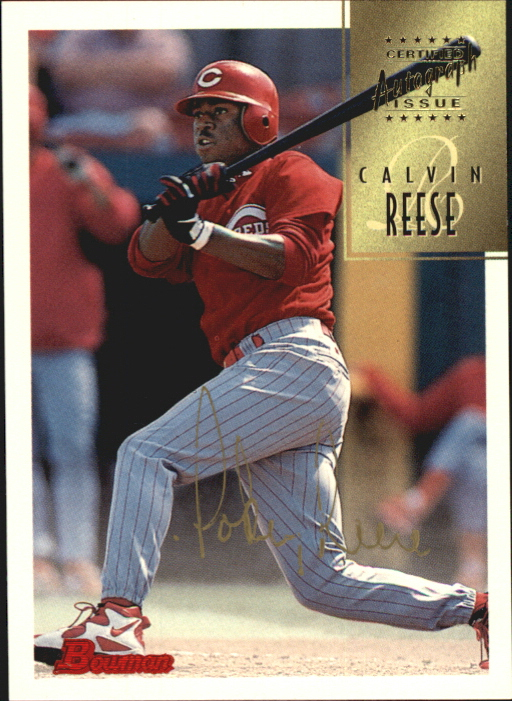 1997 Bowman Certified Gold Ink Autographs #CA64 Pokey Reese