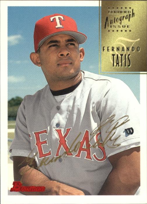 1997 Bowman Certified Gold Ink Autographs #CA77 Fernando Tatis