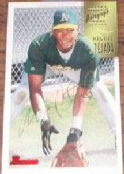 1997 Bowman Certified Gold Ink Autographs #CA78 Miguel Tejada