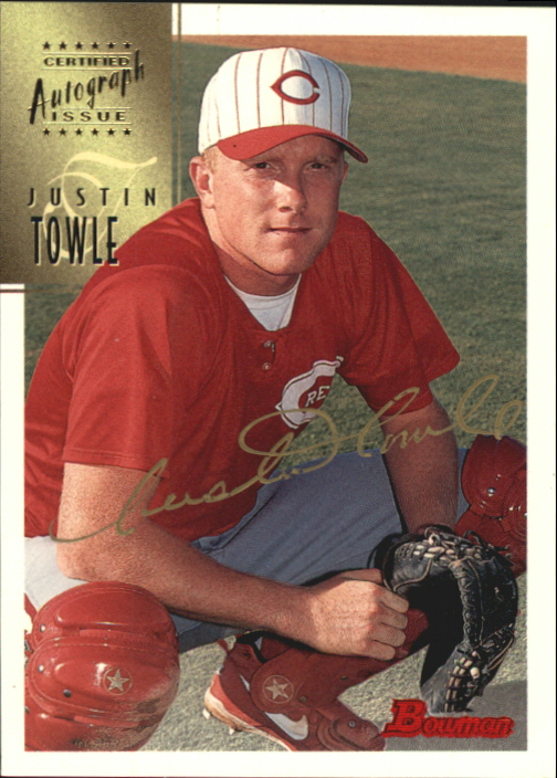 1997 Bowman Certified Gold Ink Autographs #CA80 Justin Towle