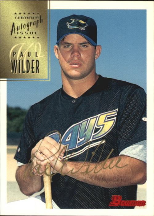 1997 Bowman Certified Gold Ink Autographs #CA84 Paul Wilder