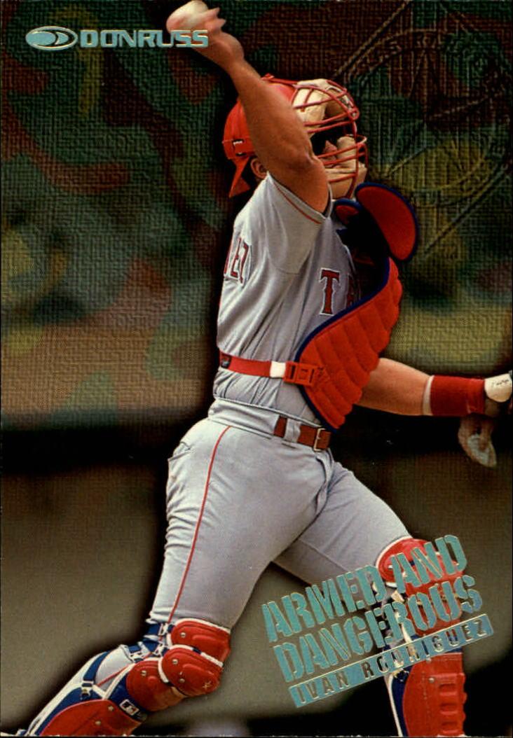 1997 Donruss Armed and Dangerous #4 Ivan Rodriguez