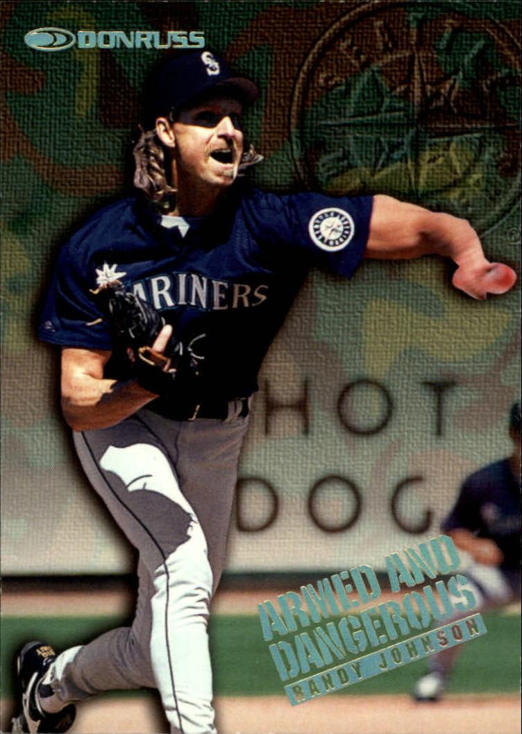 1997 Donruss Armed and Dangerous #5 Randy Johnson