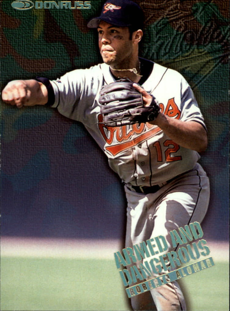 1997 Donruss Armed and Dangerous #14 Roberto Alomar