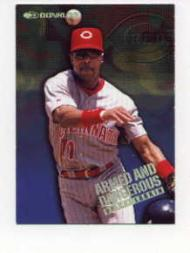 1997 Donruss Armed and Dangerous #15 Barry Larkin