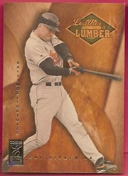 1997 Donruss Elite Leather and Lumber #6 Cal Ripken