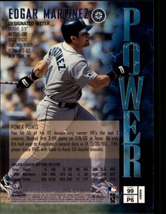 1997 Finest #99 Edgar Martinez B back image