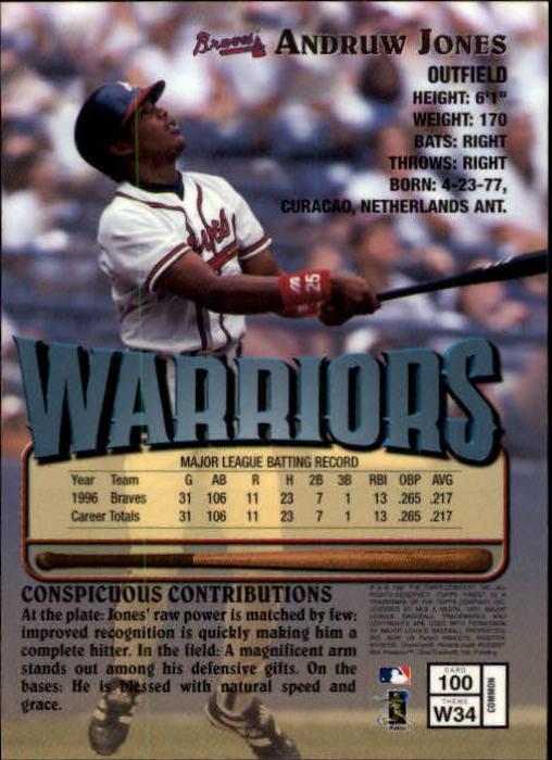 1997 Finest #100 Andruw Jones B back image