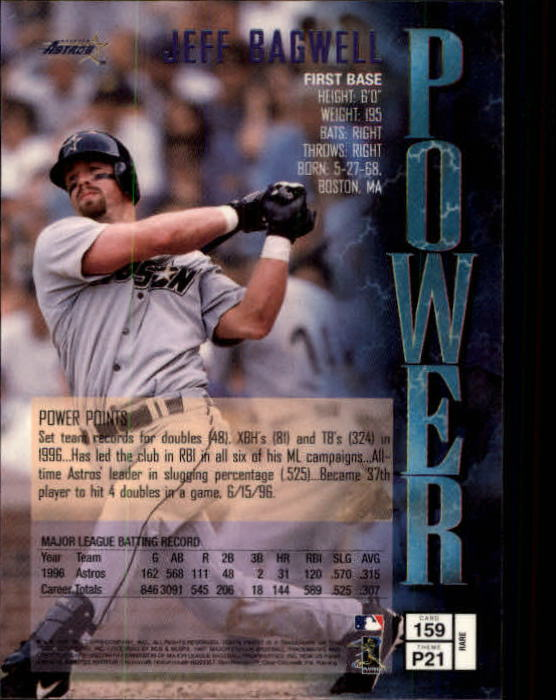 1997 Finest #159 Jeff Bagwell G back image