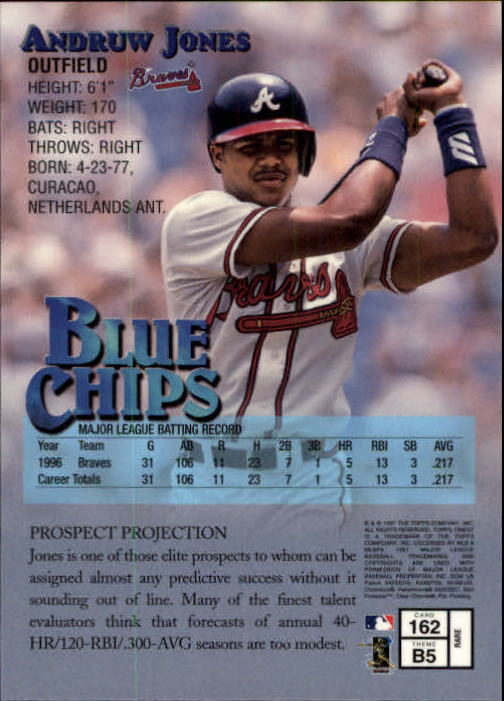 1997 Finest #162 Andruw Jones G back image