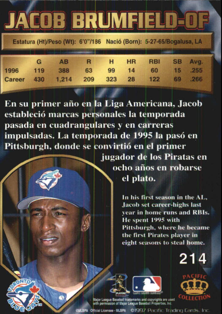 1997 Pacific #214 Jacob Brumfield back image