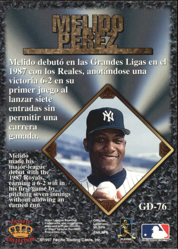 1997 Pacific Prisms Gems of the Diamond #GD76 Melido Perez back image
