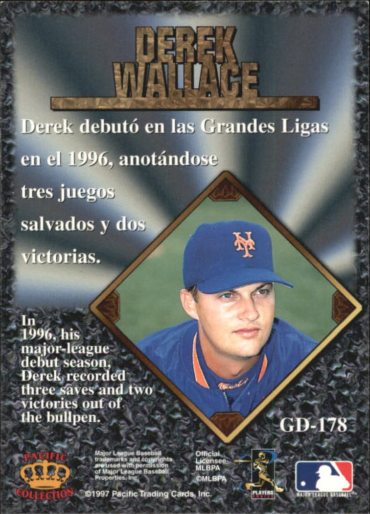 1997 Pacific Prisms Gems of the Diamond #GD178 Derek Wallace back image