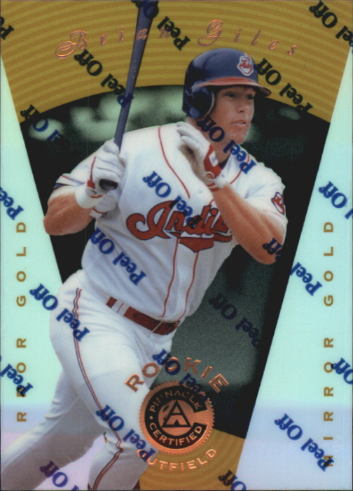 1997 Pinnacle Certified Mirror Gold #109 Brian Giles