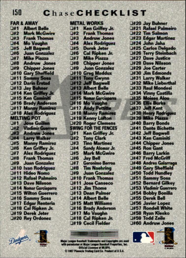 1997 Pinnacle X-Press #150 Hideo Nomo CL back image