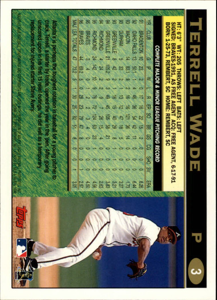 1997 Topps #3 Terrell Wade back image