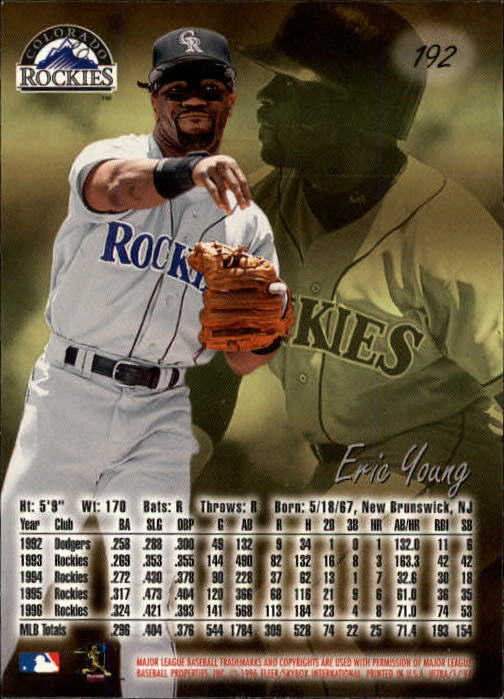 1997 Ultra #192 Eric Young back image