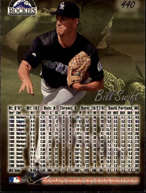 1997 Ultra #440 Bill Swift back image