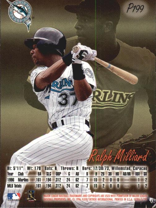 1997 Ultra Platinum Medallion #199 Ralph Milliard back image