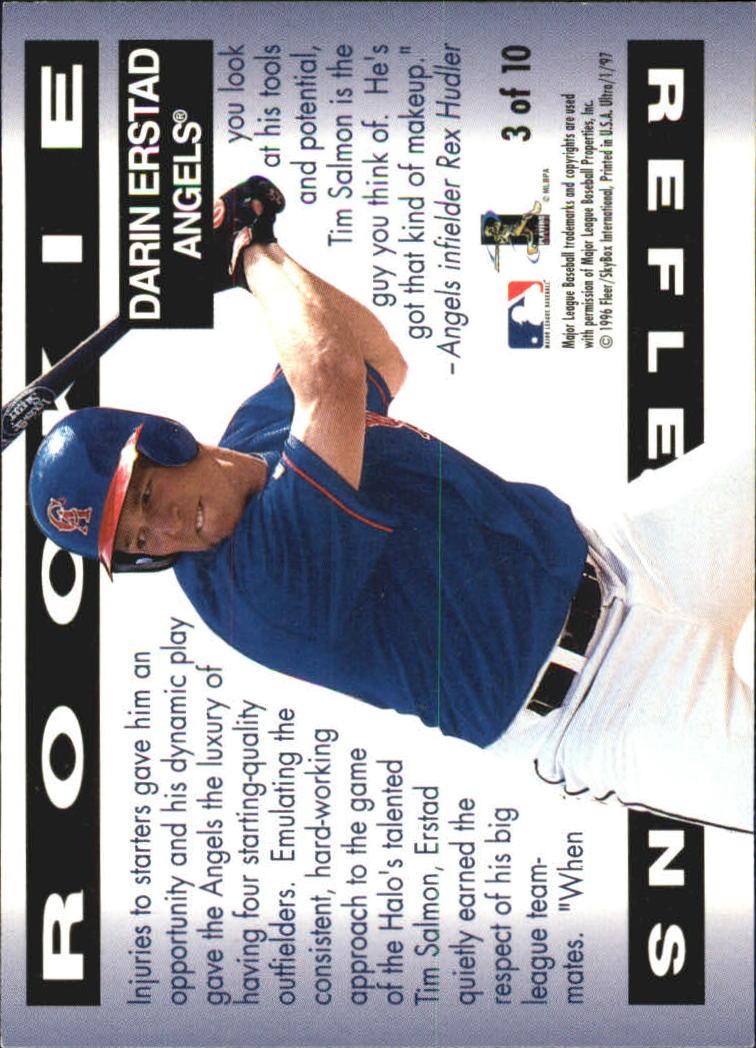 1997 Ultra Rookie Reflections #3 Darin Erstad back image