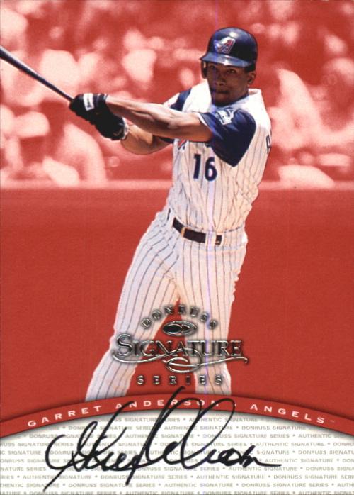 1997 Donruss Signature Autographs #7 Garret Anderson/3900