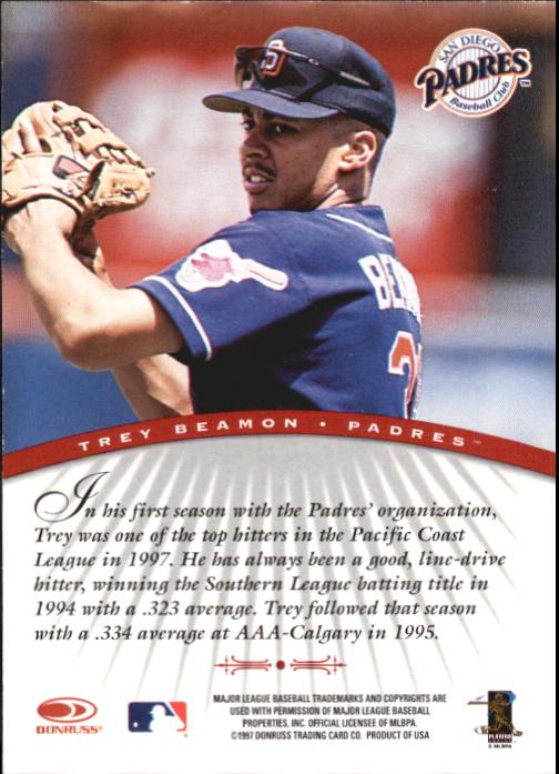1997 Donruss Signature Autographs #9 Trey Beamon/3900 back image