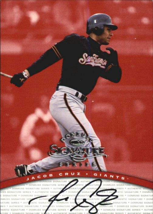 1997 Donruss Signature Autographs #24 Jacob Cruz/3900 *