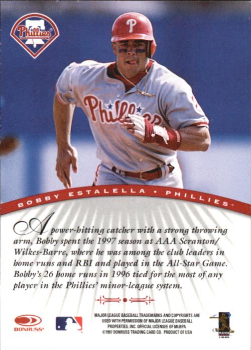 1997 Donruss Signature Autographs #32 Bobby Estalella/3900 back image