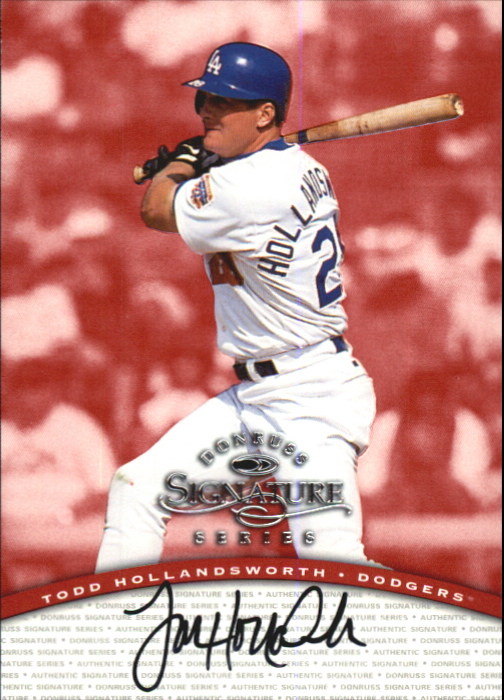 1997 Donruss Signature Autographs #51 Todd Hollandsworth/2900