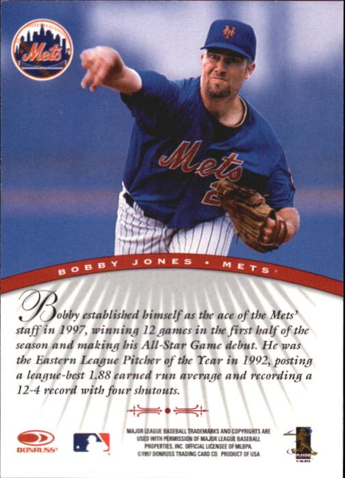1997 Donruss Signature Autographs #54 Bobby Jones/3900 back image