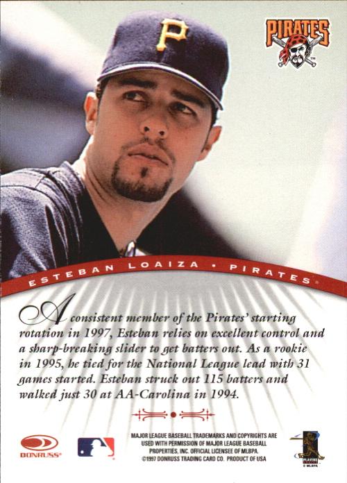 1997 Donruss Signature Autographs #67 Esteban Loaiza/3900 back image