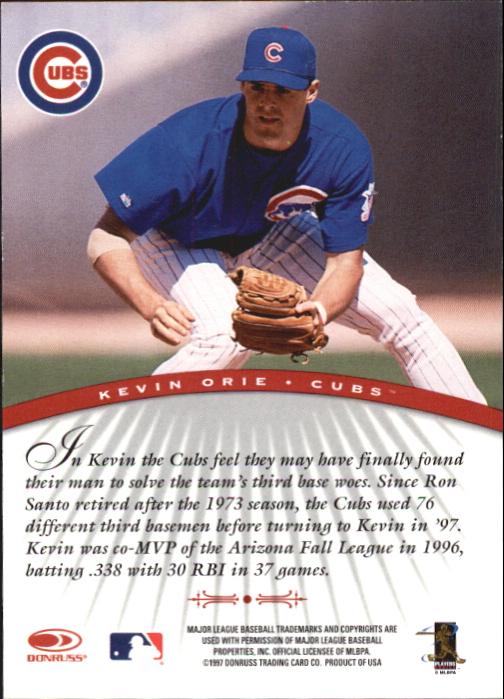 1997 Donruss Signature Autographs #75 Kevin Orie/3900 back image