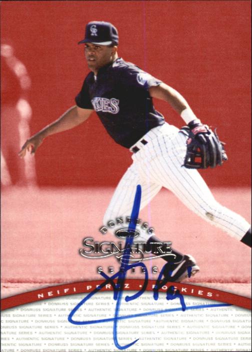 1997 Donruss Signature Autographs #79 Neifi Perez/3900
