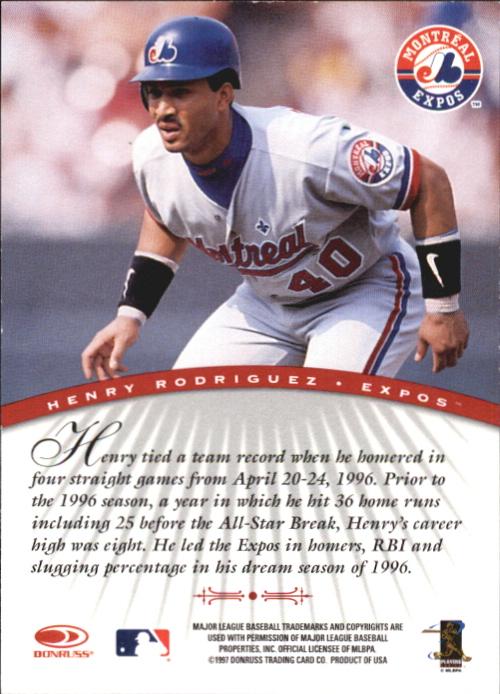 1997 Donruss Signature Autographs #85 Henry Rodriguez/3900 back image