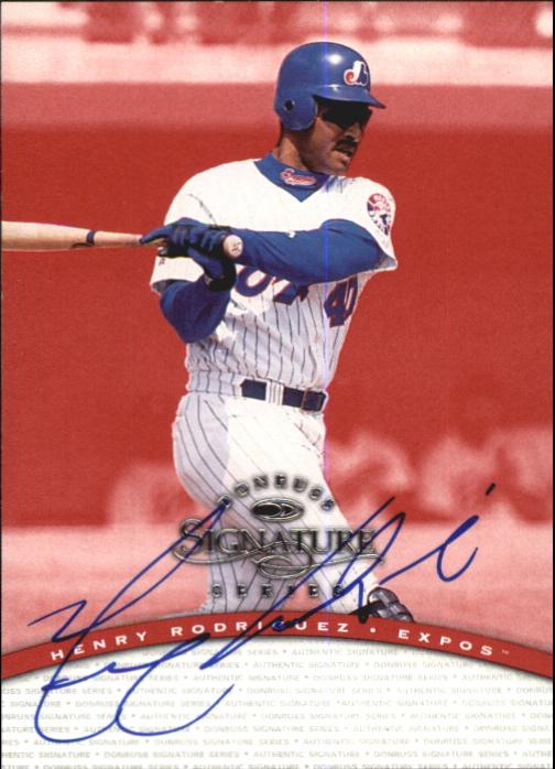 1997 Donruss Signature Autographs #85 Henry Rodriguez/3900