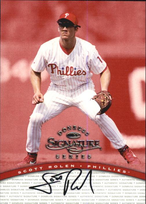 1997 Donruss Signature Autographs #86 Scott Rolen/1900 *