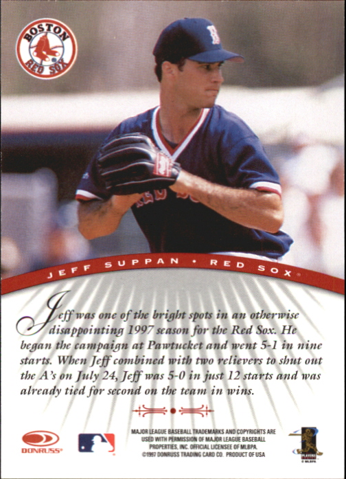 1997 Donruss Signature Autographs #93 Jeff Suppan/1900 back image