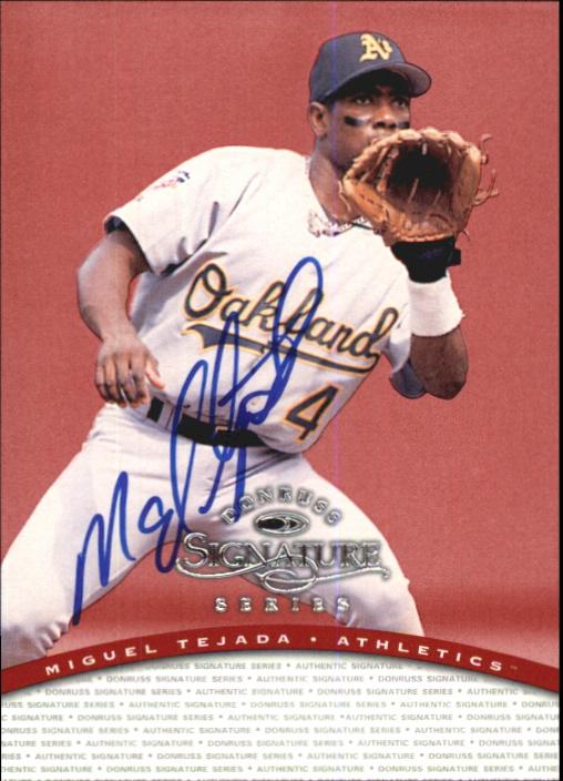 1997 Donruss Signature Autographs #95 Miguel Tejada/3900