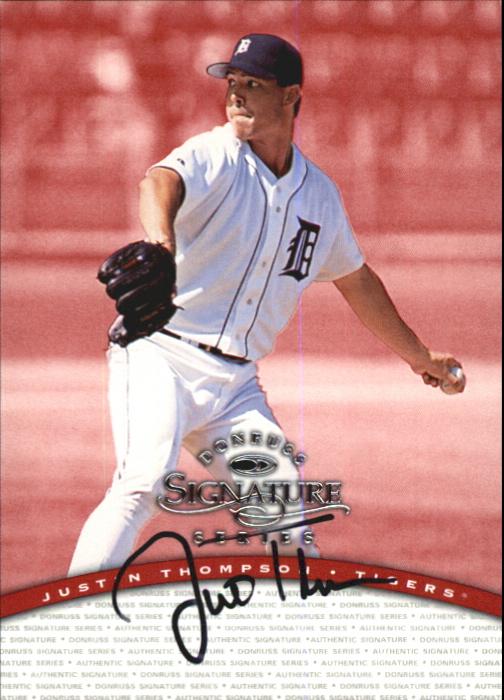 1997 Donruss Signature Autographs #96 Justin Thompson/2400