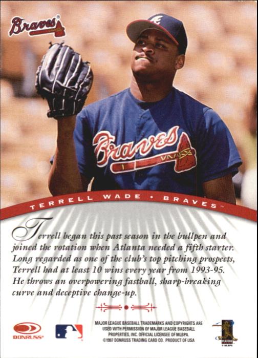 1997 Donruss Signature Autographs #103 Terrell Wade/3900 back image