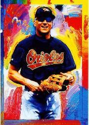 1997 Topps Gallery Peter Max Signature Series Serigraphs #7 Cal Ripken