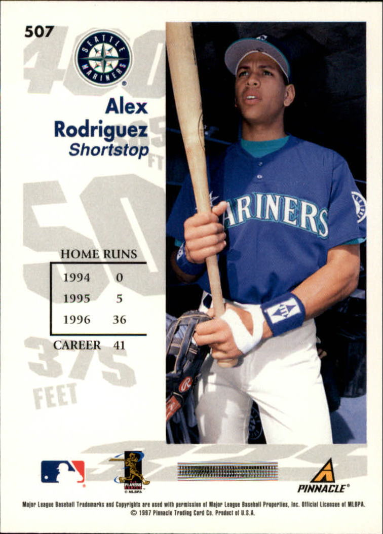 1997 Score #507 Alex Rodriguez GY back image