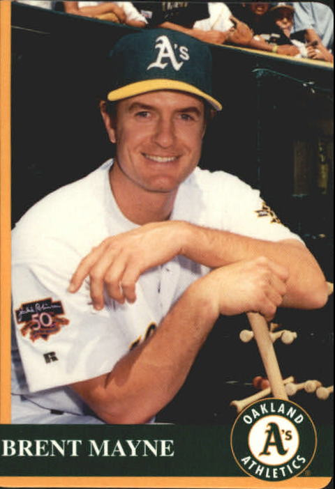 1997 A's Mother's #17 Brent Mayne