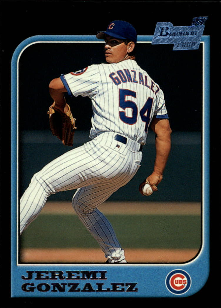 1997 Bowman #309 Jeremi Gonzalez RC