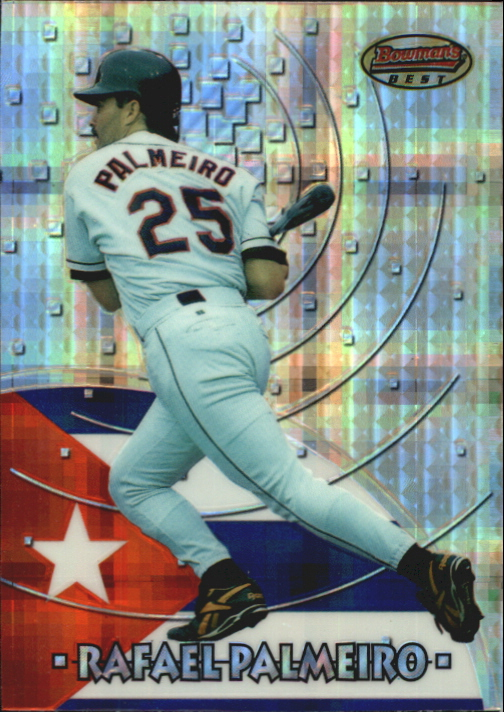 1997 Bowman International Best Atomic Refractor #BBI10 Rafael Palmeiro