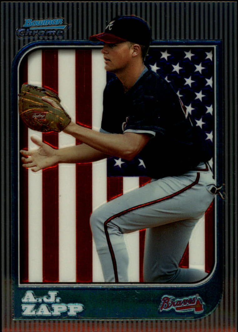 1997 Bowman Chrome #253 A.J. Zapp RC