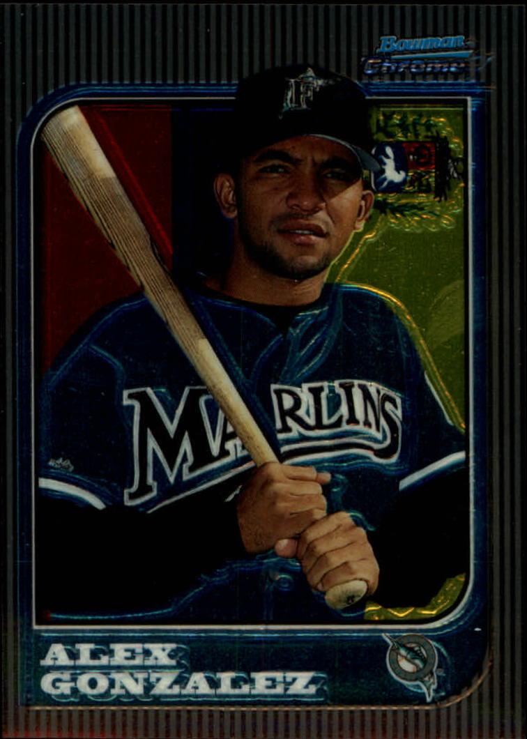 1997 Bowman Chrome International #206 Alex Gonzalez