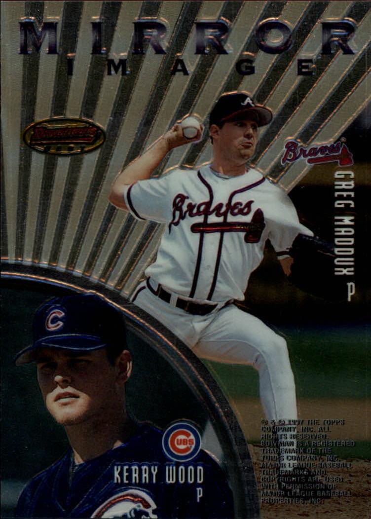 1997 Bowman's Best Mirror Image #MI3 K.Wood/Maddux/Benson