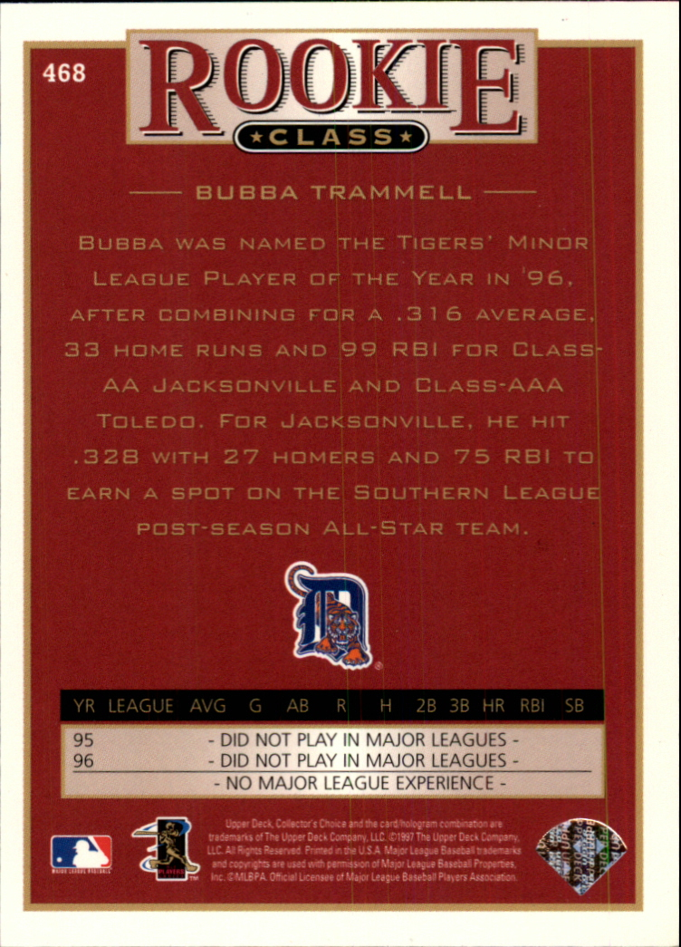 1997 Collector's Choice #468 Bubba Trammell RC back image